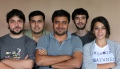Sudhir Sharma with Can, Nikhil, Gorkem and Aceliya, interning at INDI