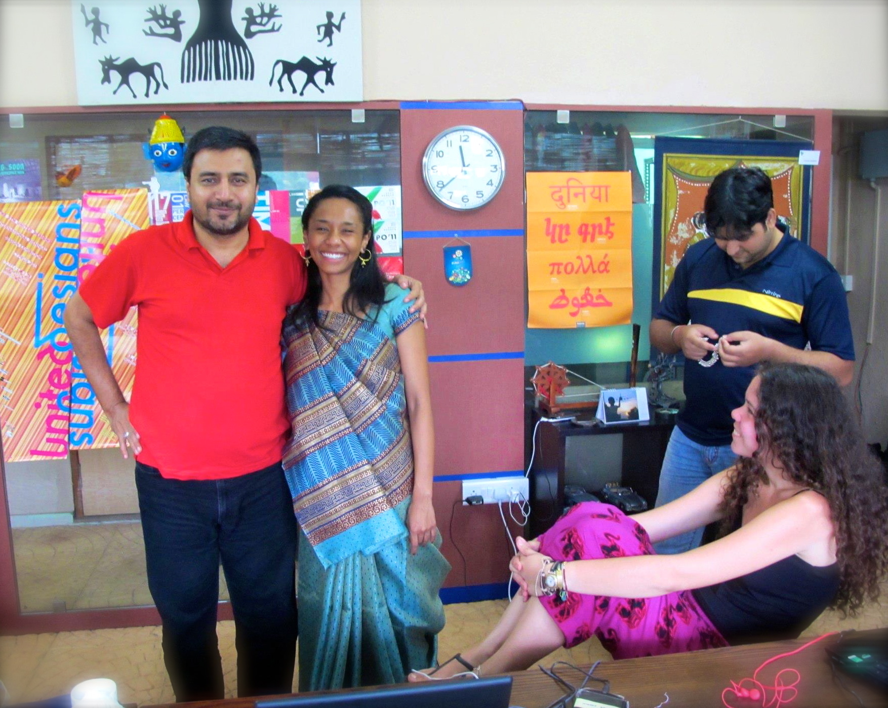 Sudhir with Pauline